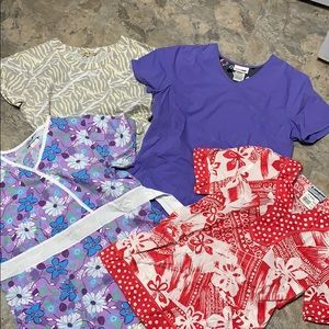 Other - Bundle of 4 scrub tops xs
